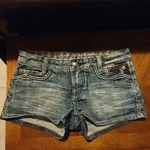 Express Rerock jean shorts